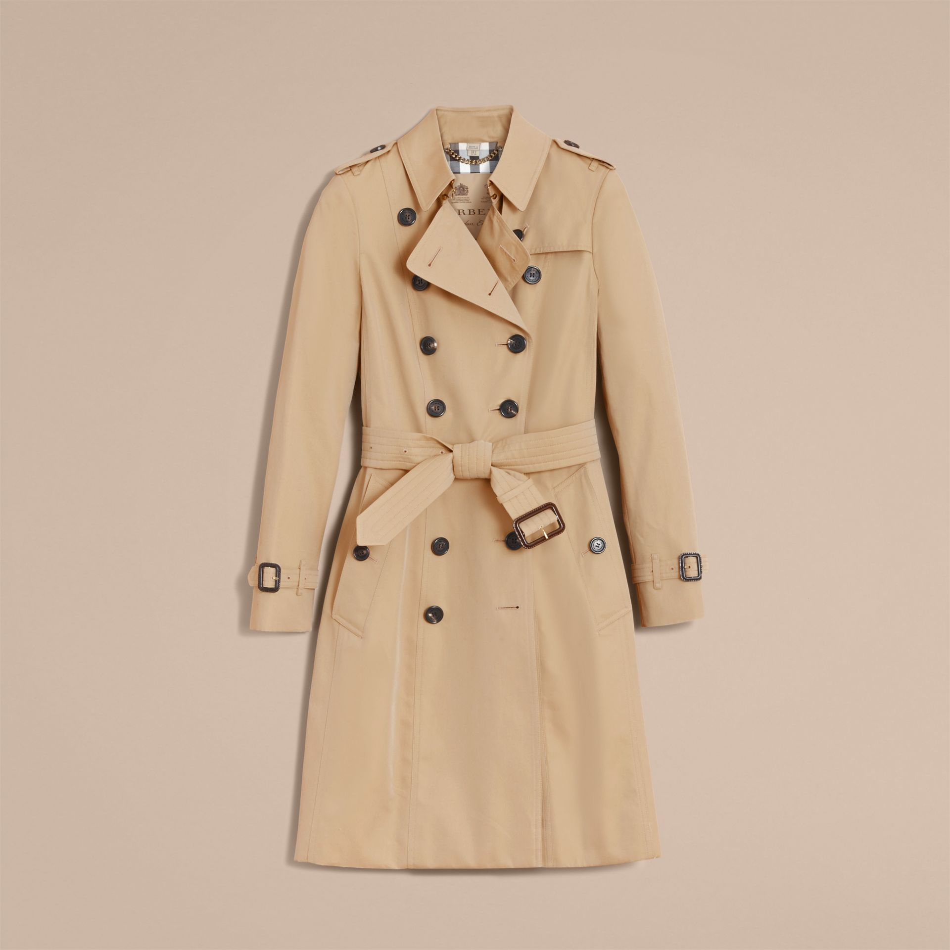 Honey The Chelsea – Long Heritage Trench Coat Honey - gallery image 5