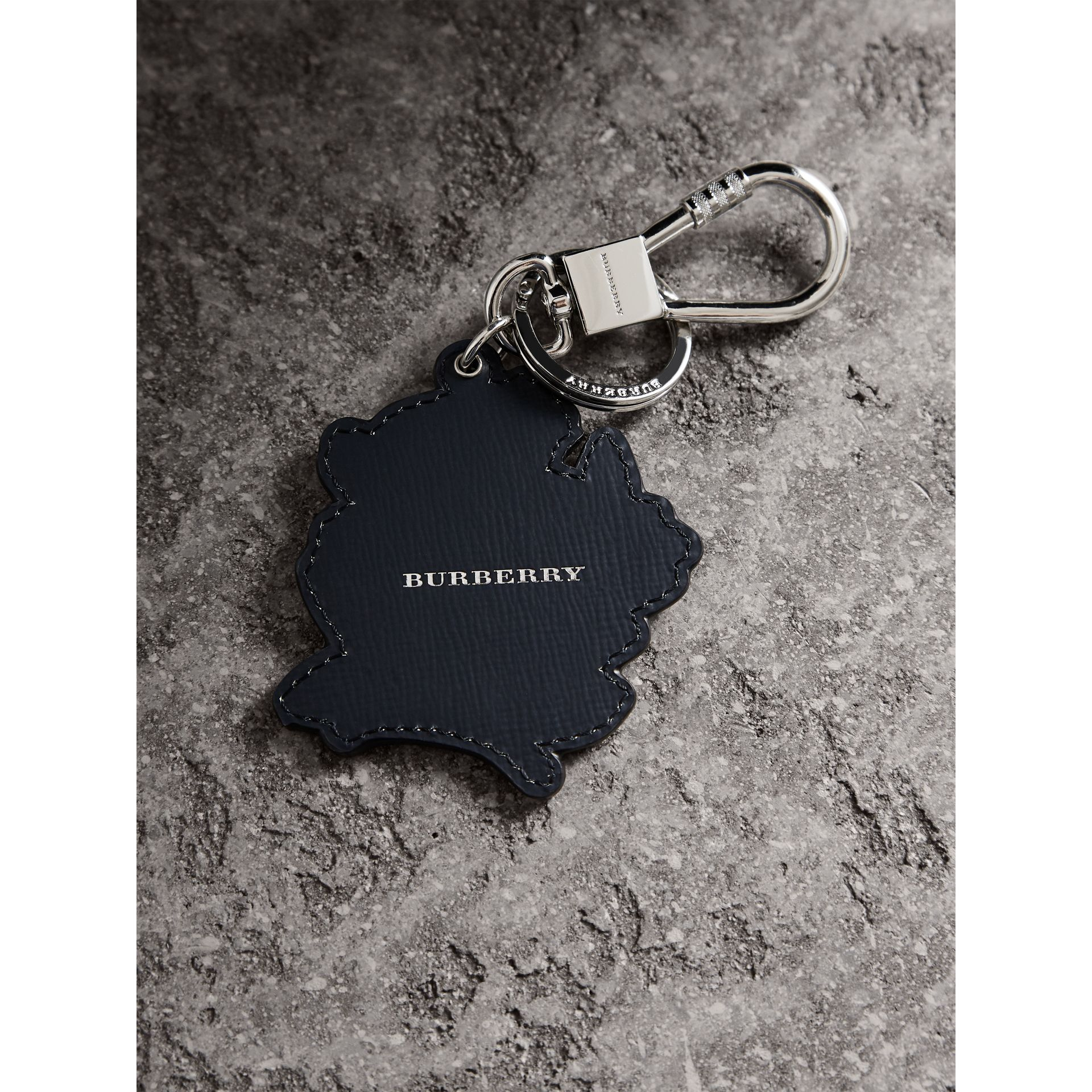 Beasts Leather Key Ring in Olive Green | Burberry - gallery image 4