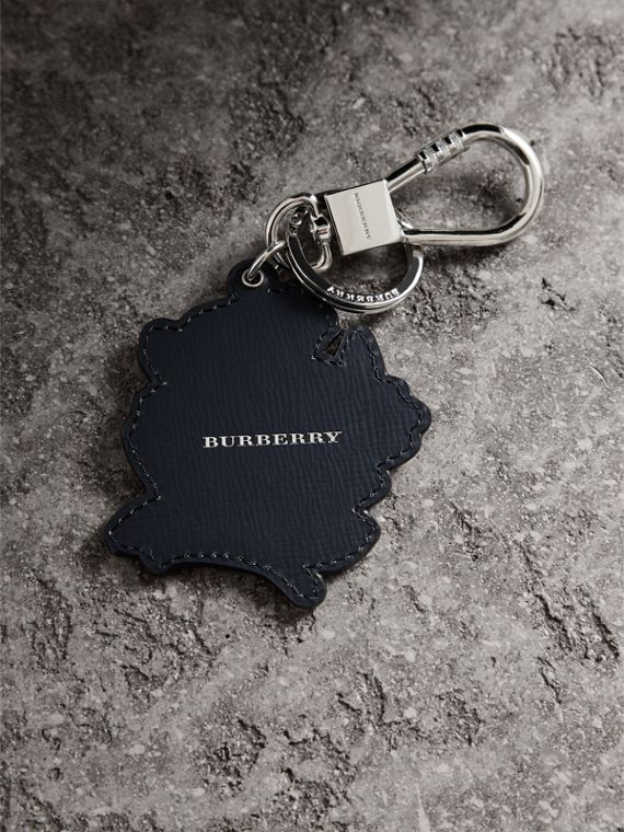 Beasts Leather Key Ring in Olive Green | Burberry United States - cell image 3