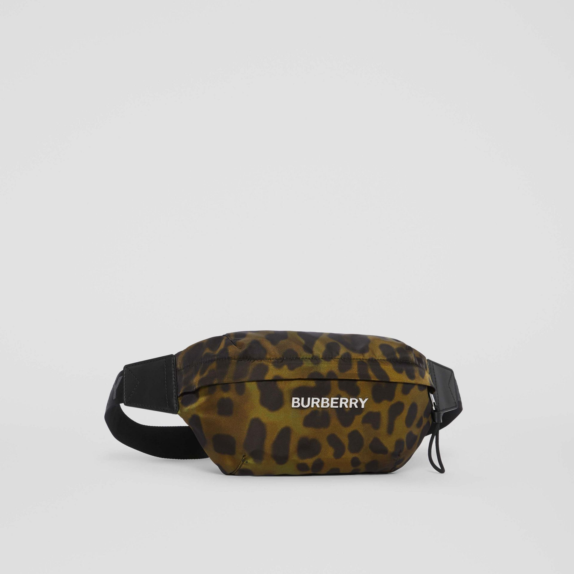 Medium Animal Print Bum Bag in Khaki Green - Men | Burberry - gallery image 8