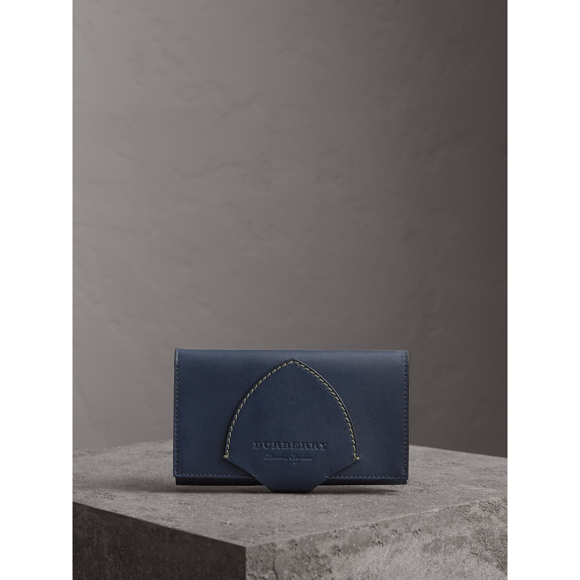 Equestrian Shield Two-tone Leather Continental Wallet in Mid Indigo - Women | Burberry Singapore - gallery image 5