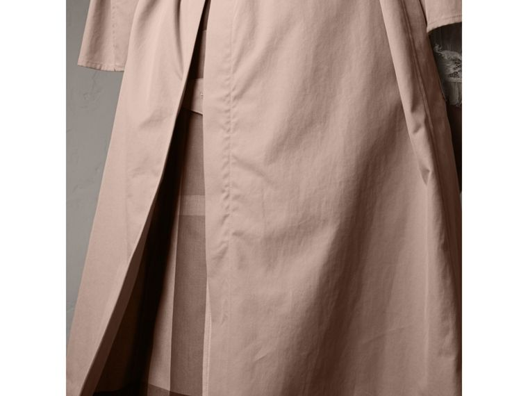 Flared Sleeve Tropical Gabardine Trench Coat in Antique Taupe Pink - Women | Burberry - cell image 4
