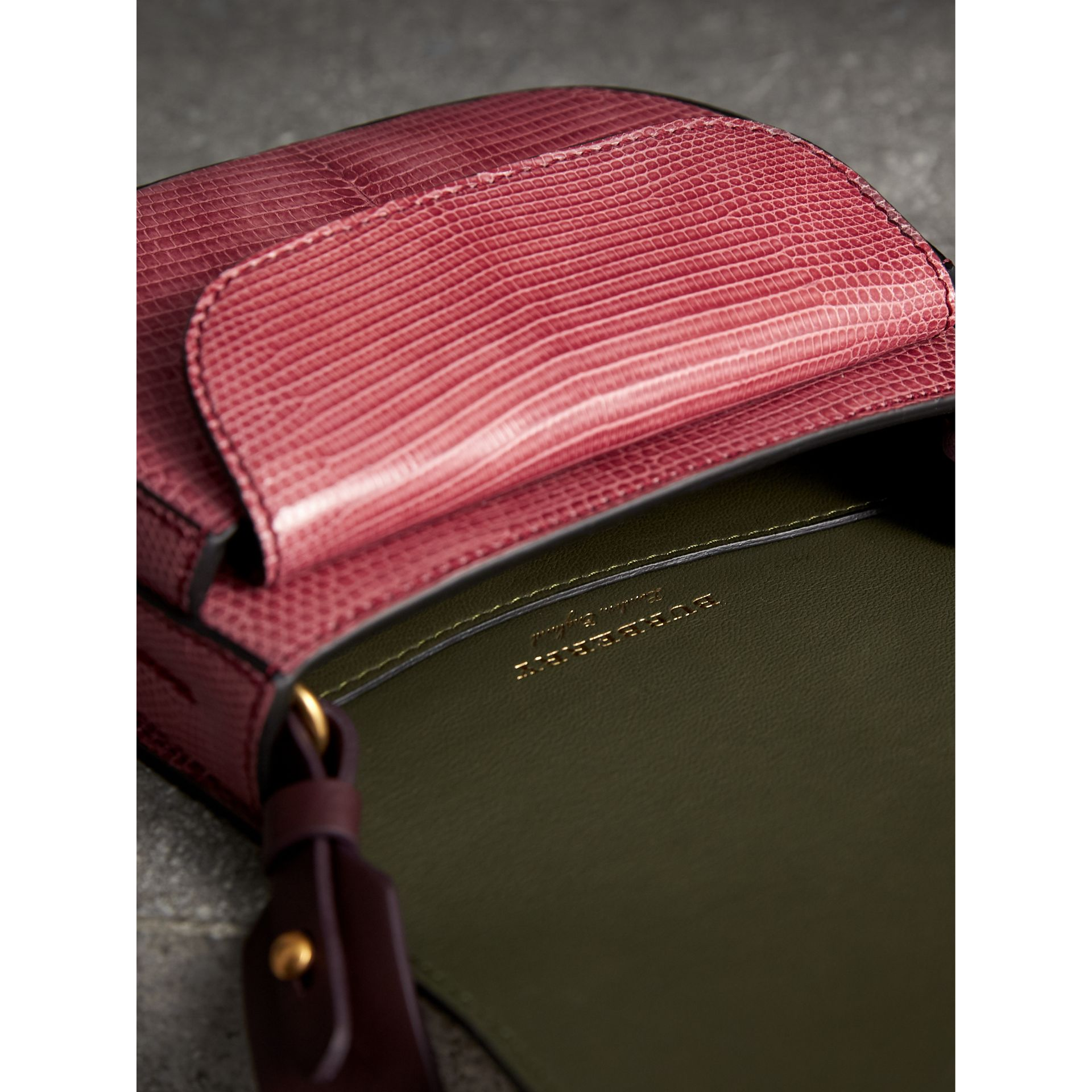 The Satchel in Lizard in Pink Azalea - Women | Burberry United Kingdom - gallery image 5