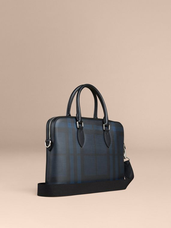 Pasta Barrow com estampa London Check (Azul Marinho/preto) - Homens | Burberry - cell image 2