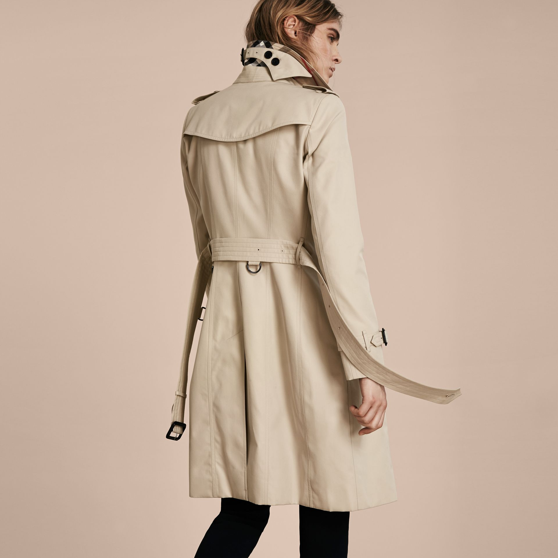 Stone The Chelsea – Long Heritage Trench Coat Stone - gallery image 3