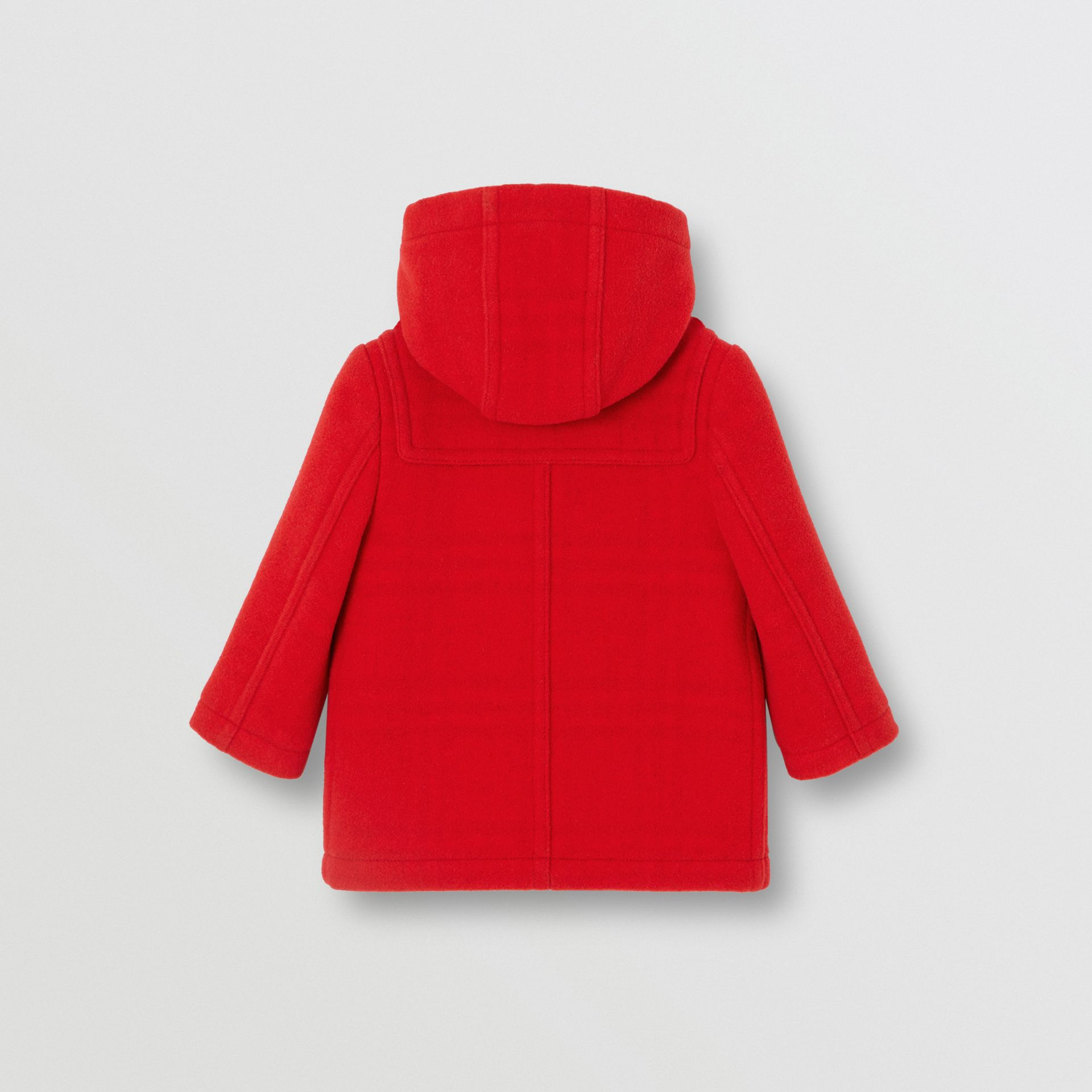 Boiled Wool Duffle Coat in Bright Red - Children | Burberry Australia - gallery image 4