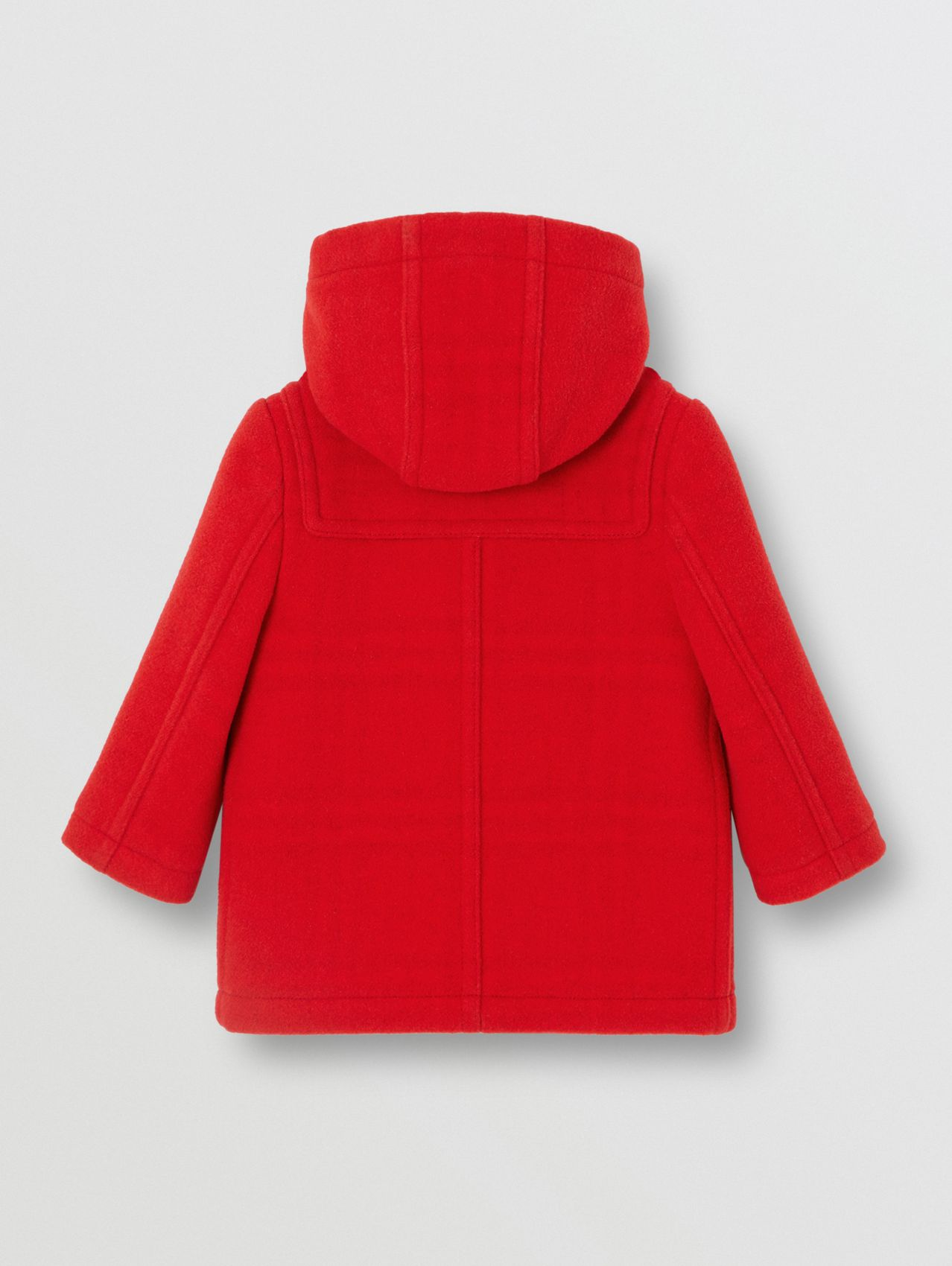 Boiled Wool Duffle Coat (Bright Red)