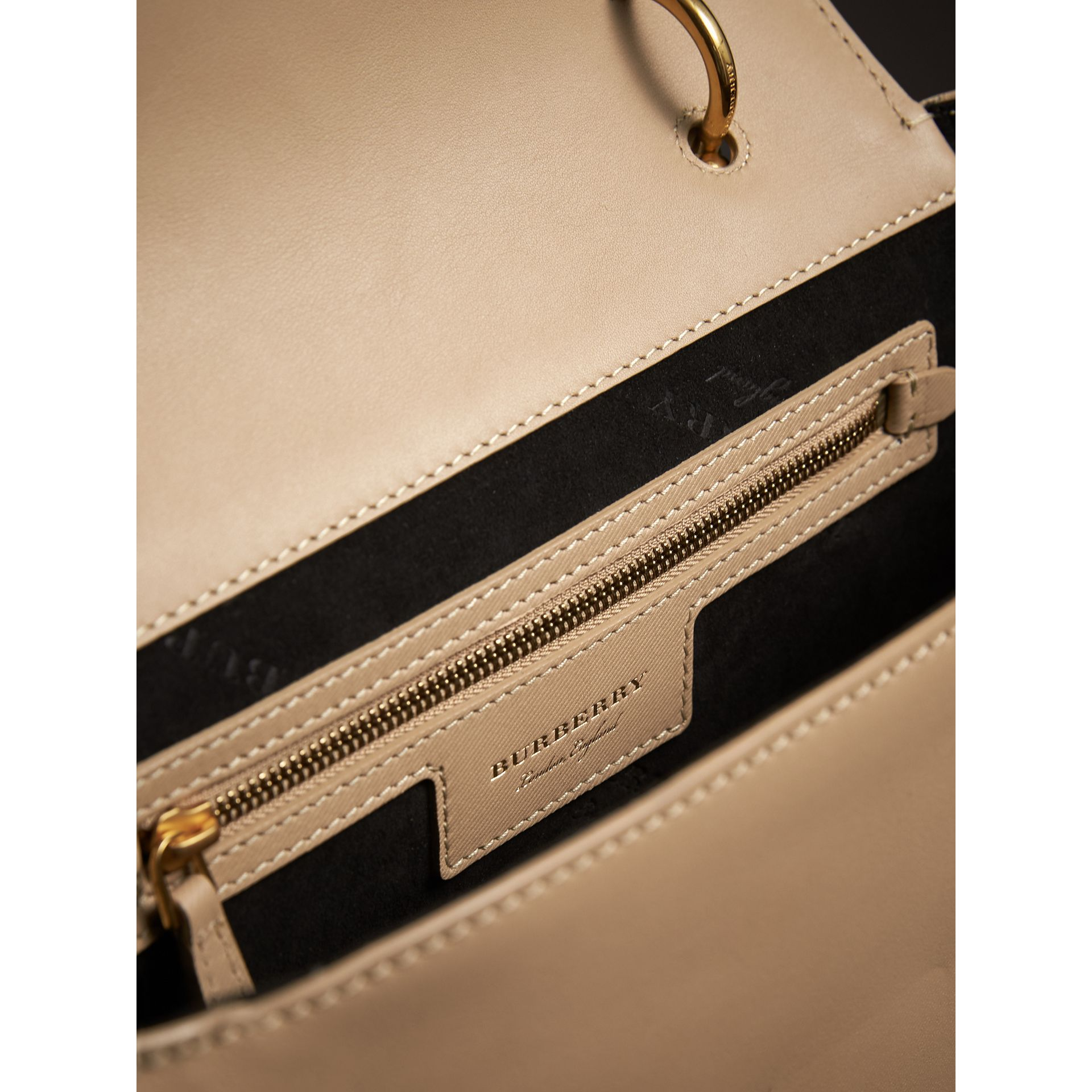 The Medium DK88 Top Handle Bag in Honey - Women | Burberry United Kingdom - gallery image 3