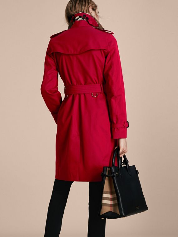 Rojo desfile Trench coat Kensington - Trench coat Heritage largo Rojo Desfile - cell image 2
