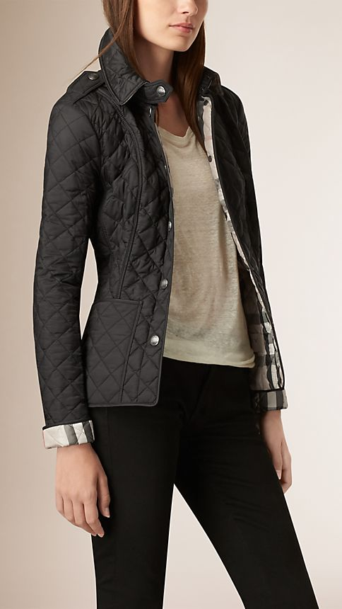 Black Diamond Quilted Jacket Black - Image 1