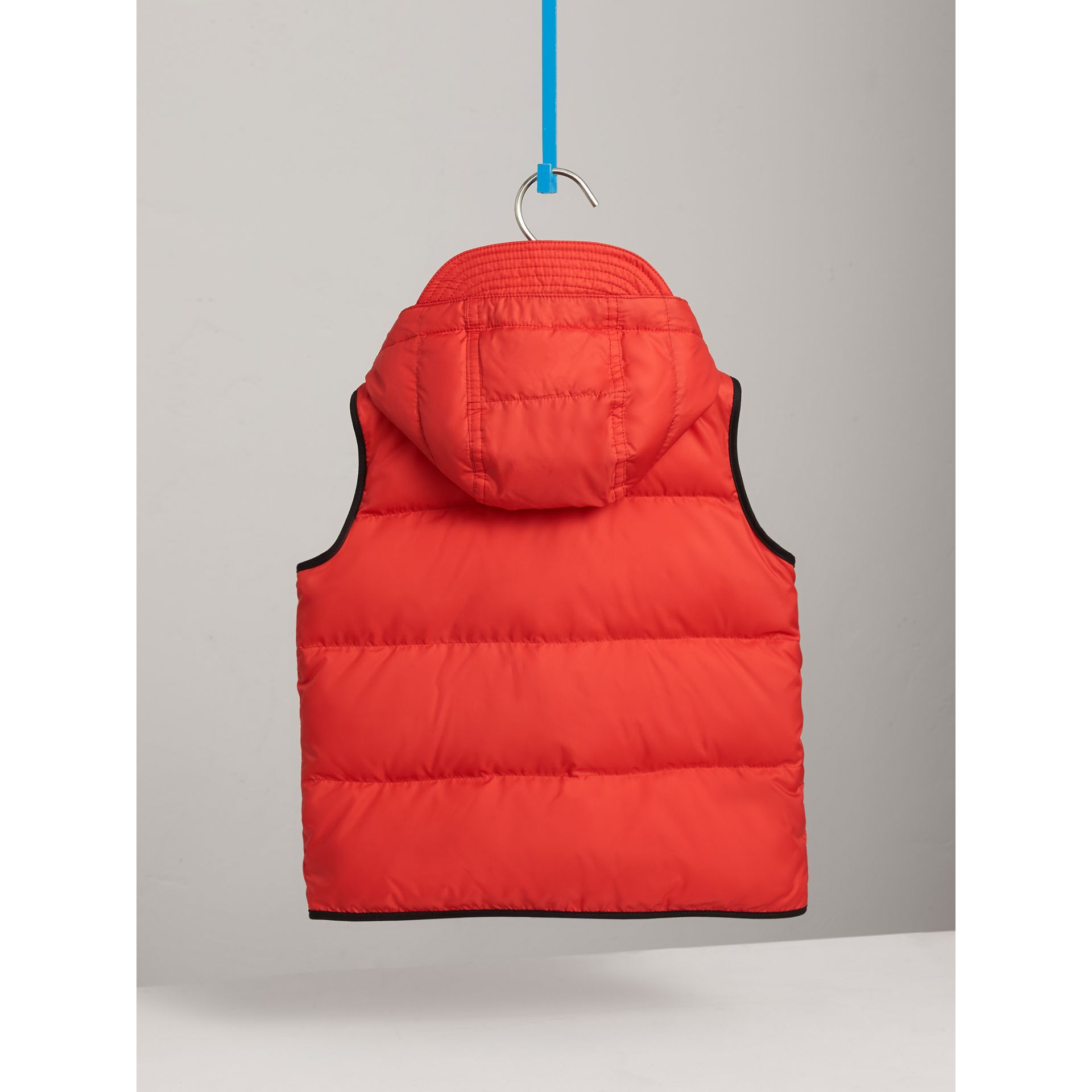 Down-filled Hooded Gilet in Bright Orange Red - Boy | Burberry Singapore - gallery image 4
