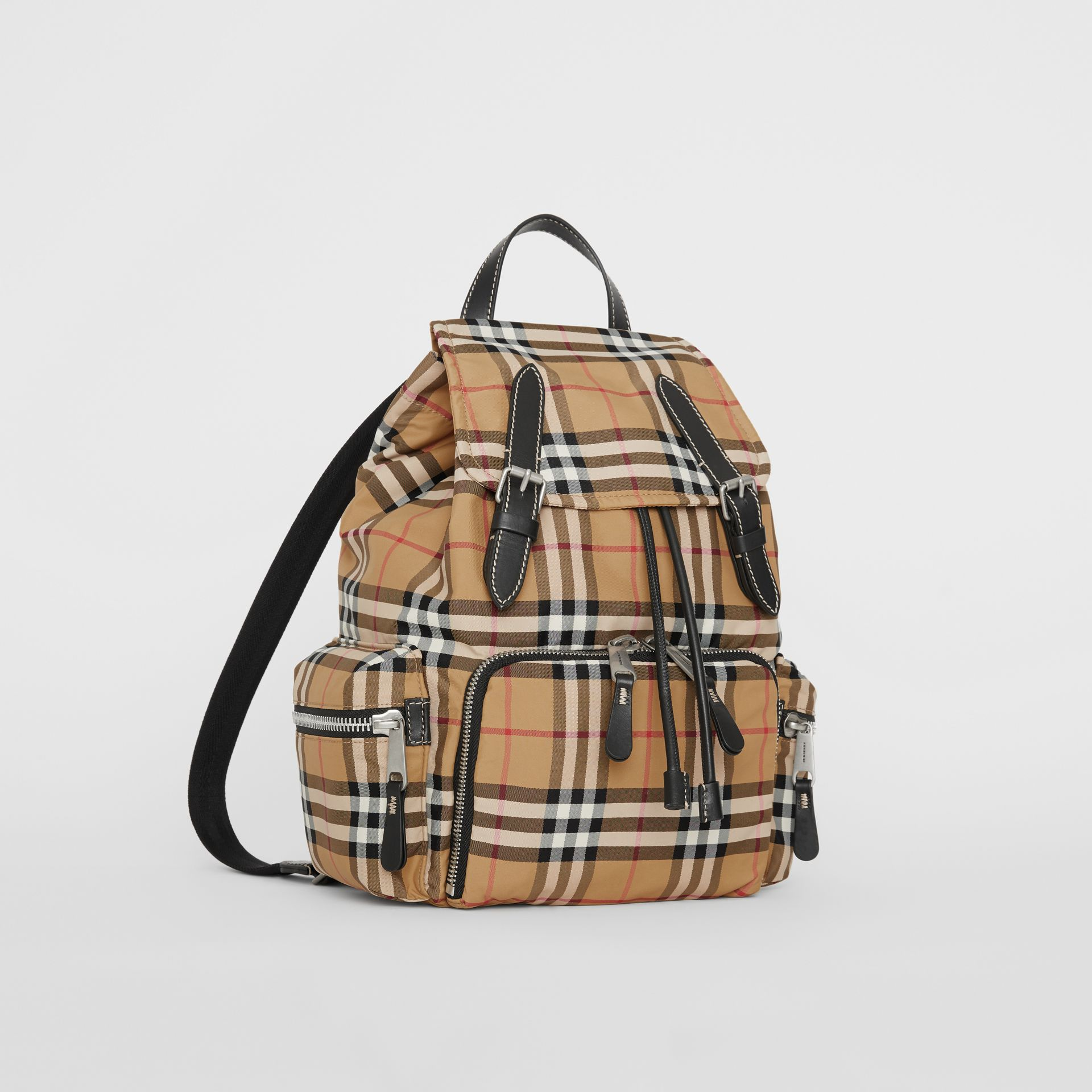The Medium Rucksack in Vintage Check Nylon in Antique Yellow - Women | Burberry - gallery image 4
