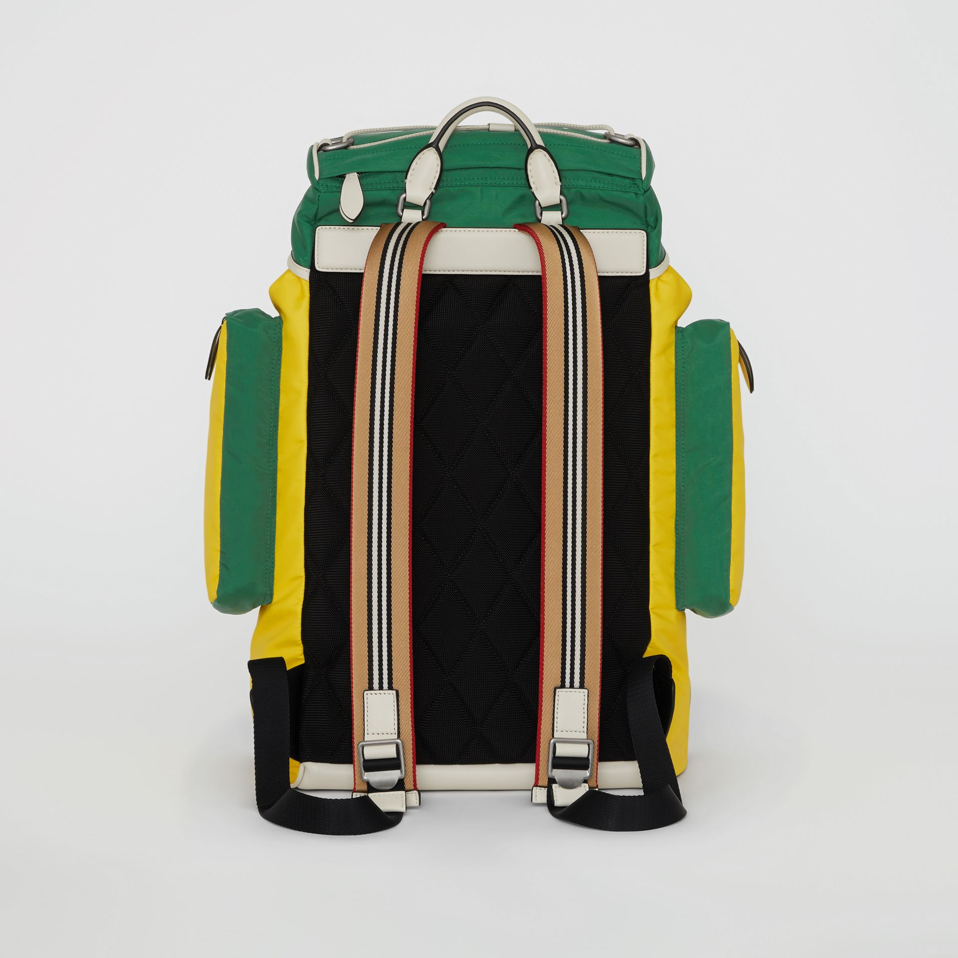 Tri-tone Nylon and Leather Backpack in Pine Green - Men | Burberry - gallery image 5