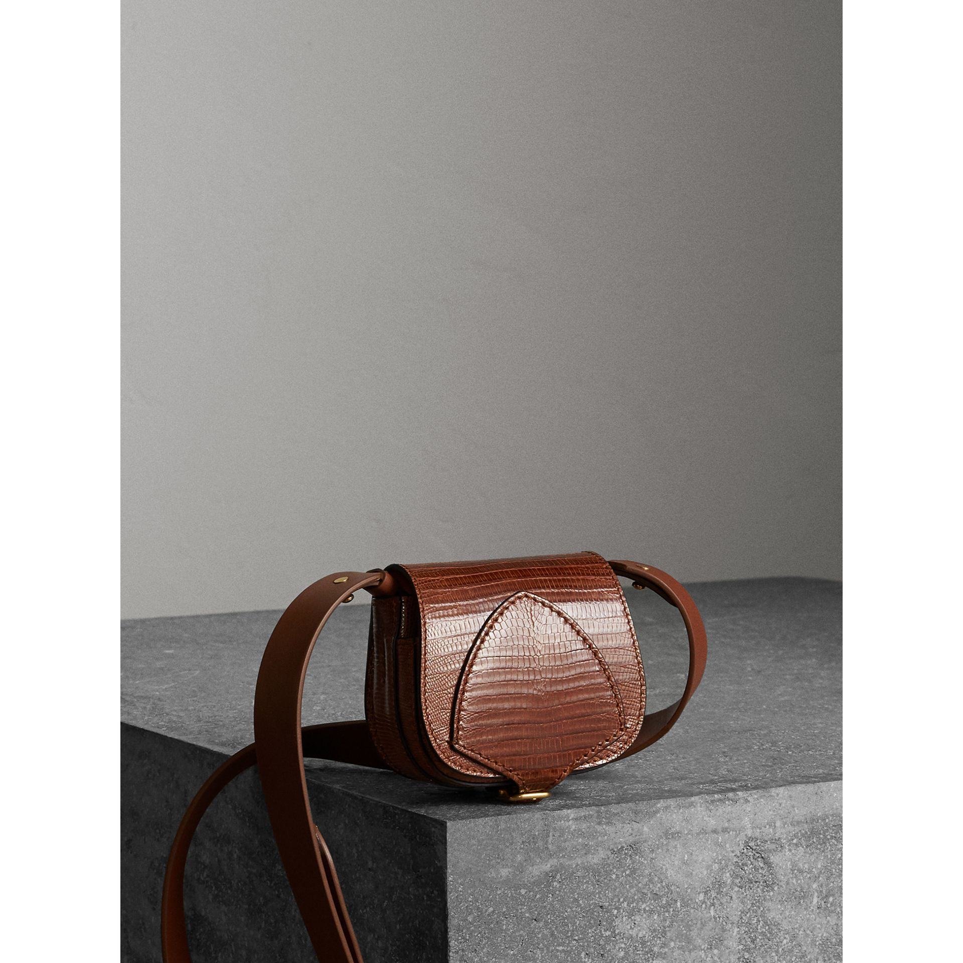 The Pocket Satchel in Lizard in Chestnut Brown - Women | Burberry Singapore - gallery image 6