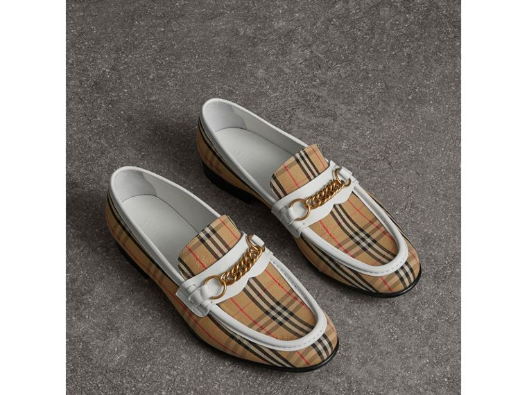 The 1983 Check Link Loafer in Off White | Burberry United Kingdom - cell image 4