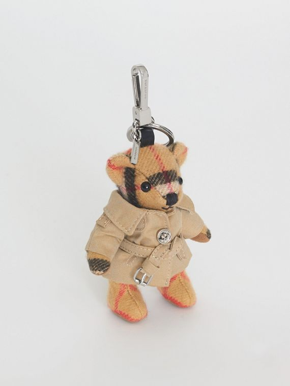 Bijou porte-clés Thomas Bear avec trench (Jaune Antique)