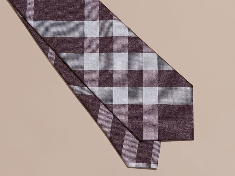 Heather Classic Cut Check Silk Tie Heather - cell image 1