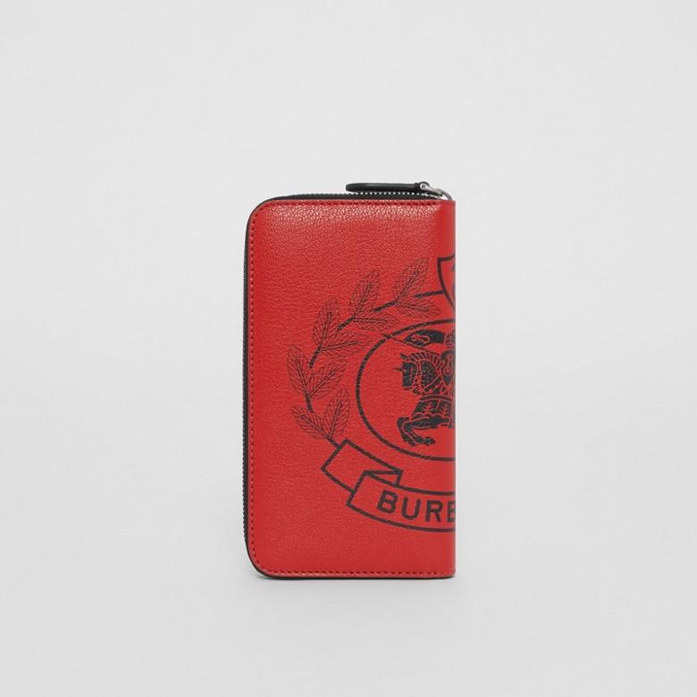 Burberry - Brieftasche aus Leder mit Ritteremblem und umlaufendem Reißverschluss - 5