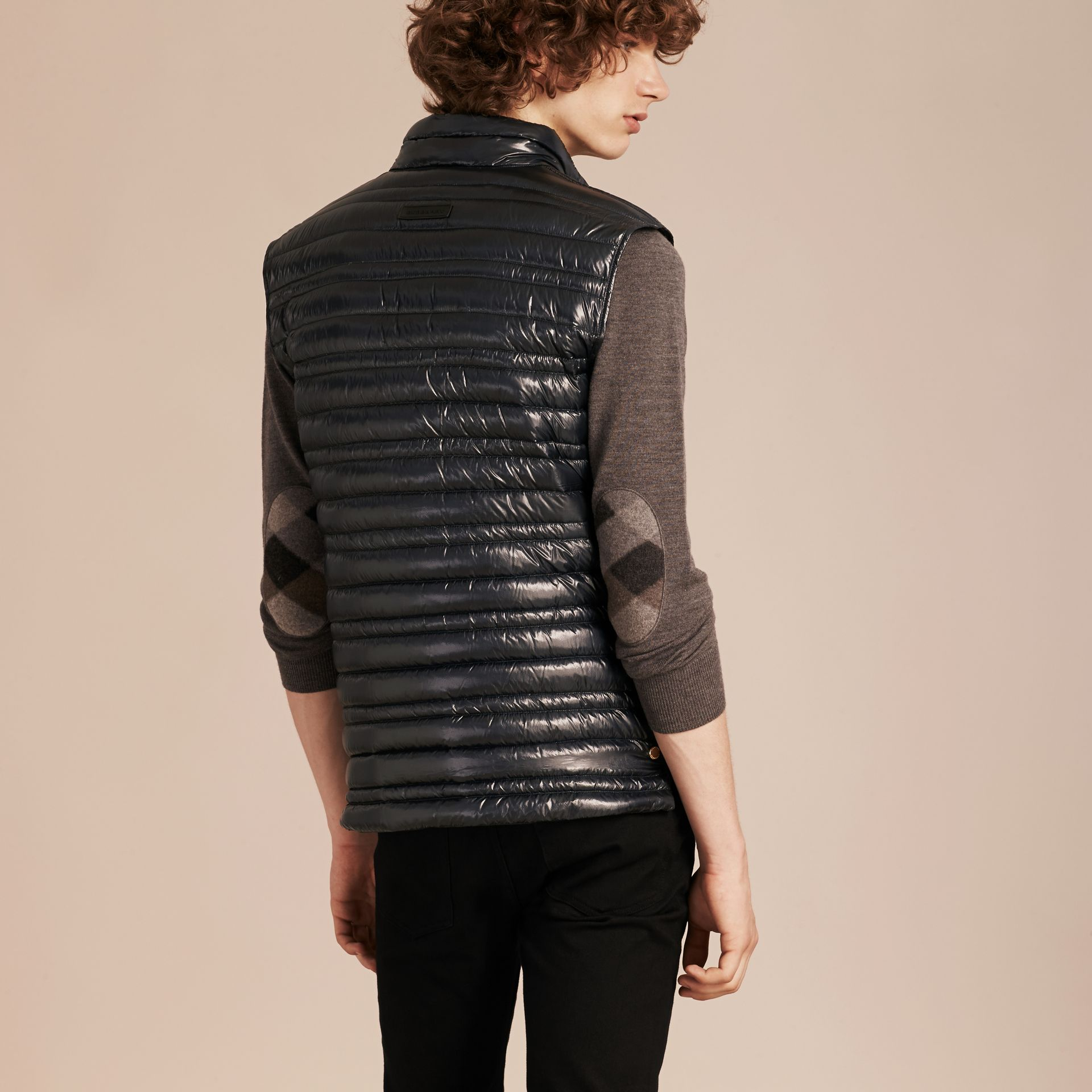 Navy Lightweight Down-filled Gilet - gallery image 3