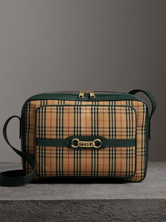 The Large 1983 Check Link Camera Bag in Dark Forest Green