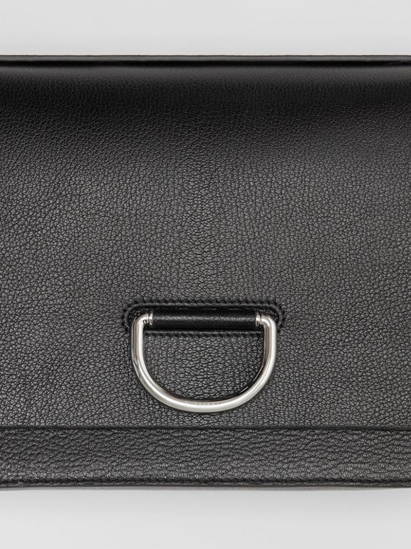 The Medium Leather D-ring Bag in Black - Women | Burberry United States - cell image 1