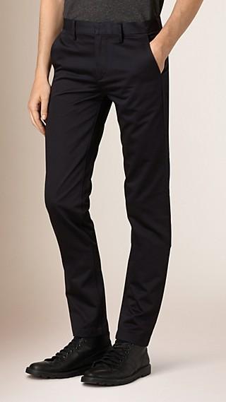 Pantalon chino slim en coton