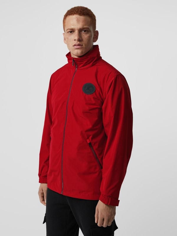 Packaway Hood Shape-memory Taffeta Jacket in Military Red - Men | Burberry United States - cell image 3