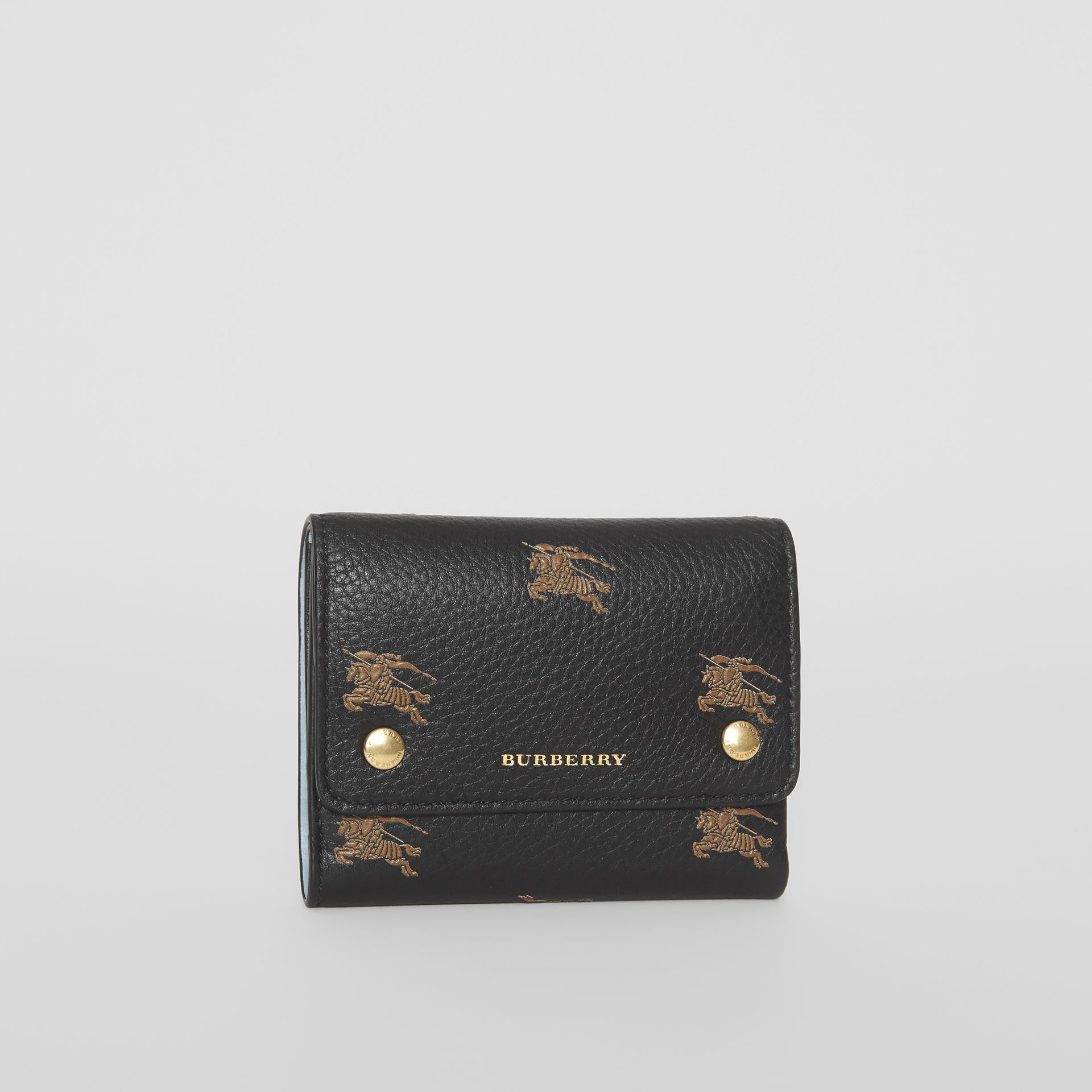 Small EKD Leather Wallet in Black - Women | Burberry - gallery image 4