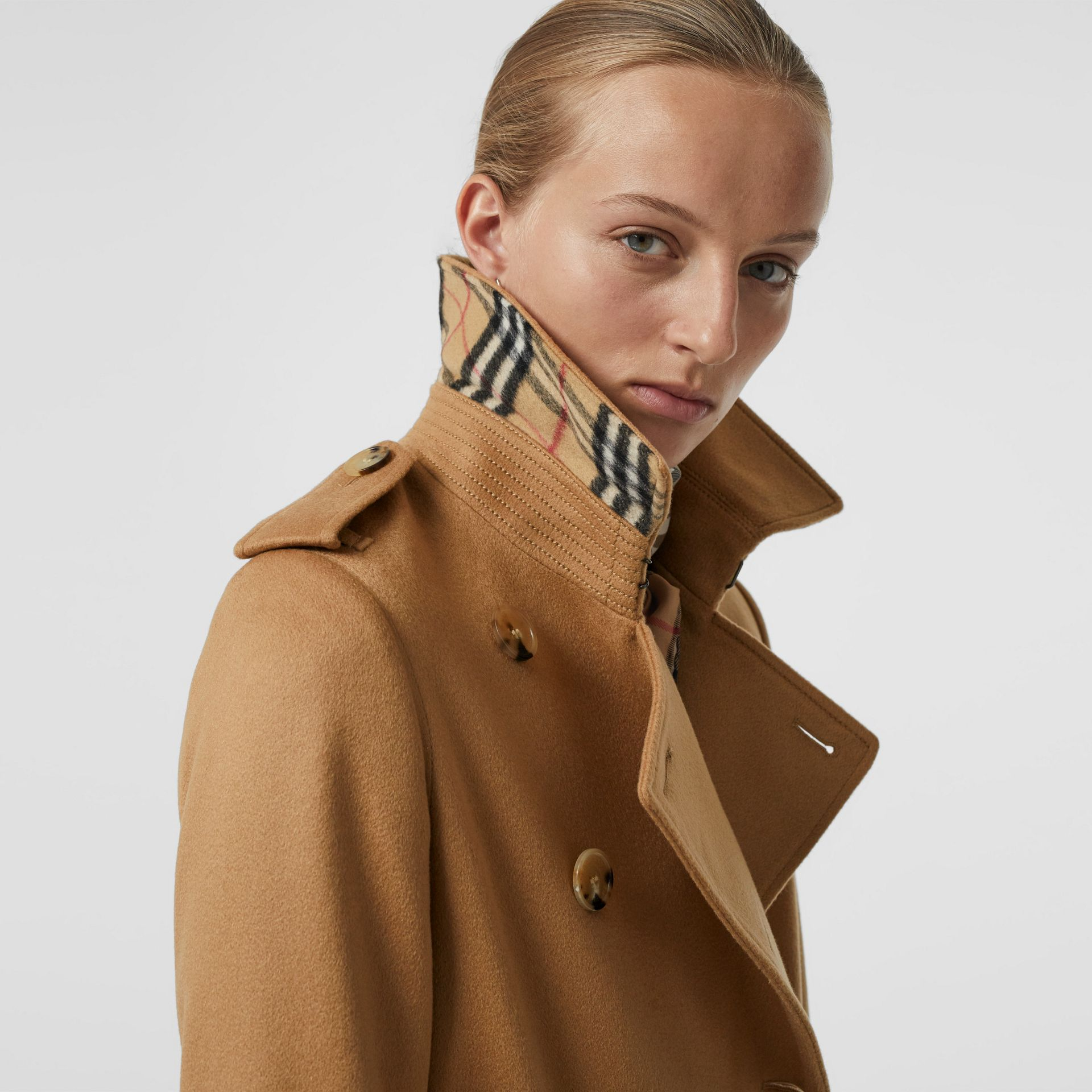 Cashmere Trench Coat in Mid Camel - Women | Burberry - gallery image 1