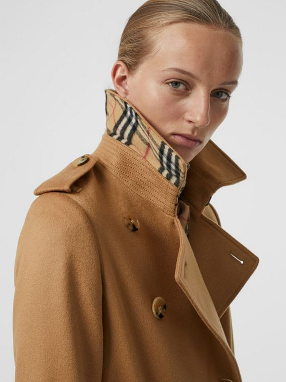 Cashmere Trench Coat in Mid Camel - Women | Burberry - cell image 1