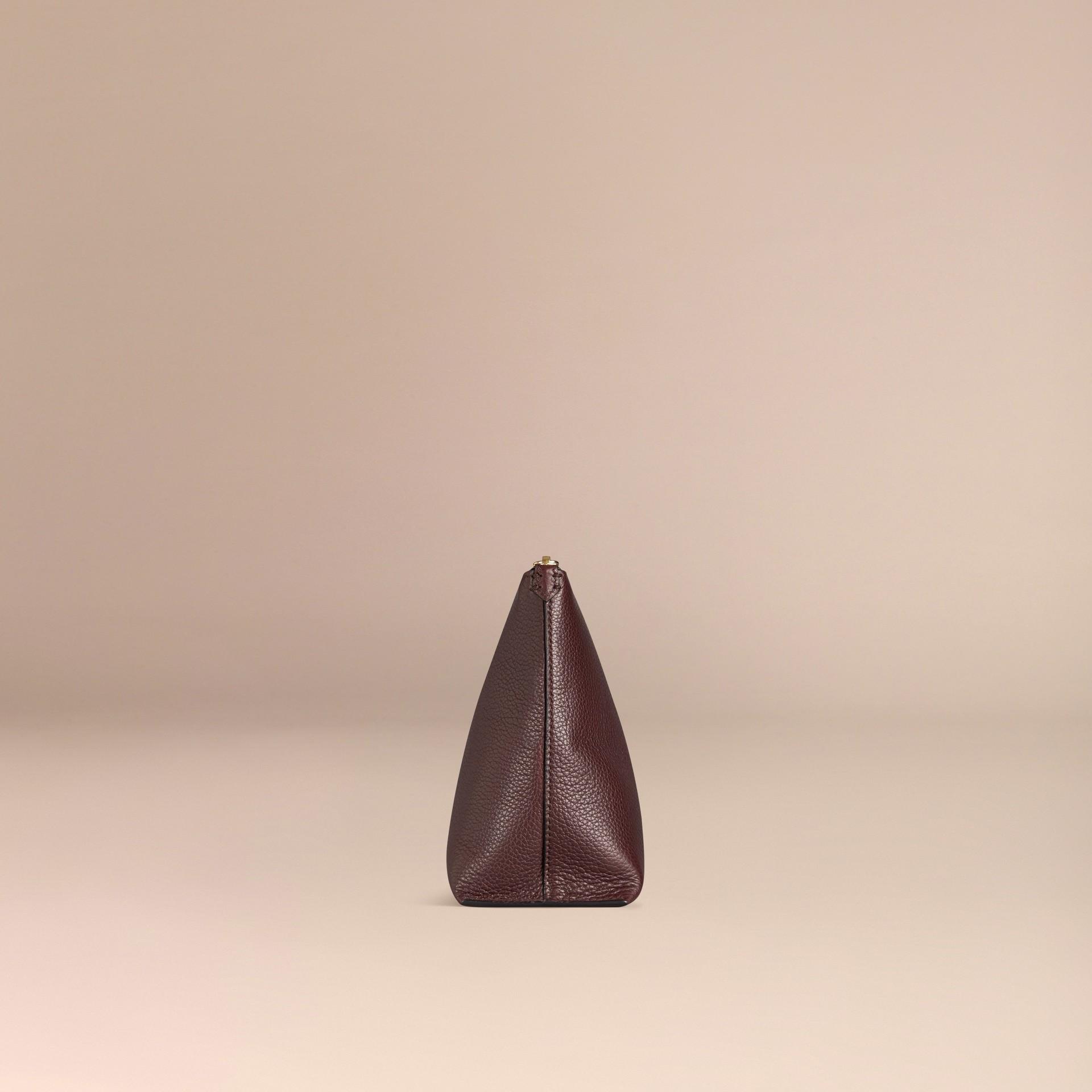 Ébène rouge Pochette zippé en cuir grainé Ébène Rouge - photo de la galerie 2