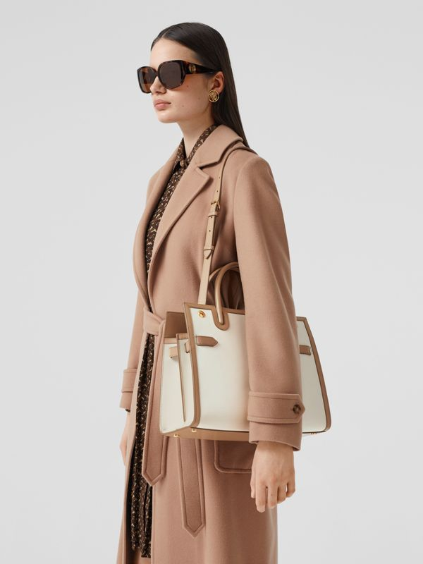 Small Leather Two-handle Title Bag in Buttermilk/camel - Women | Burberry Canada - cell image 2