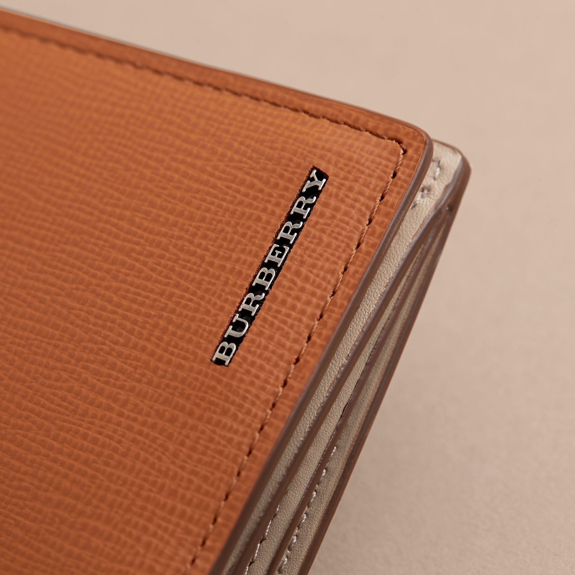 London Leather Continental Wallet in Tan | Burberry - gallery image 5