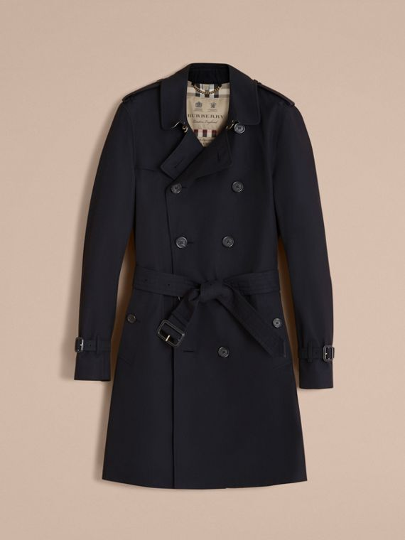 The Sandringham – Long Heritage Trench Coat Navy - cell image 3