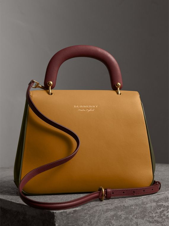 The Medium DK88 Top Handle Bag in Moss Green/ochre Yellow - Women | Burberry Singapore - cell image 3