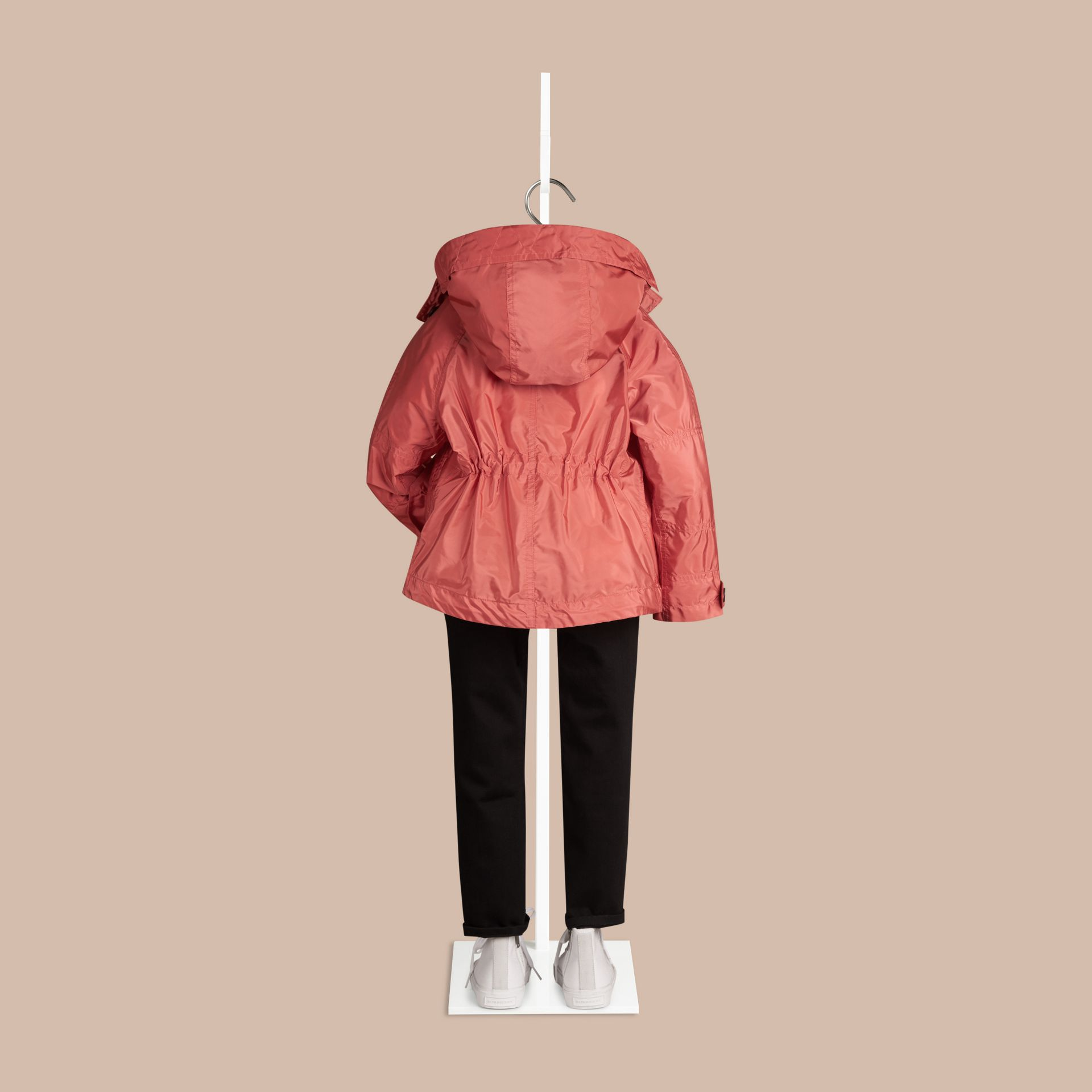 Bright copper pink Technical Jacket with Hood Bright Copper Pink - gallery image 3