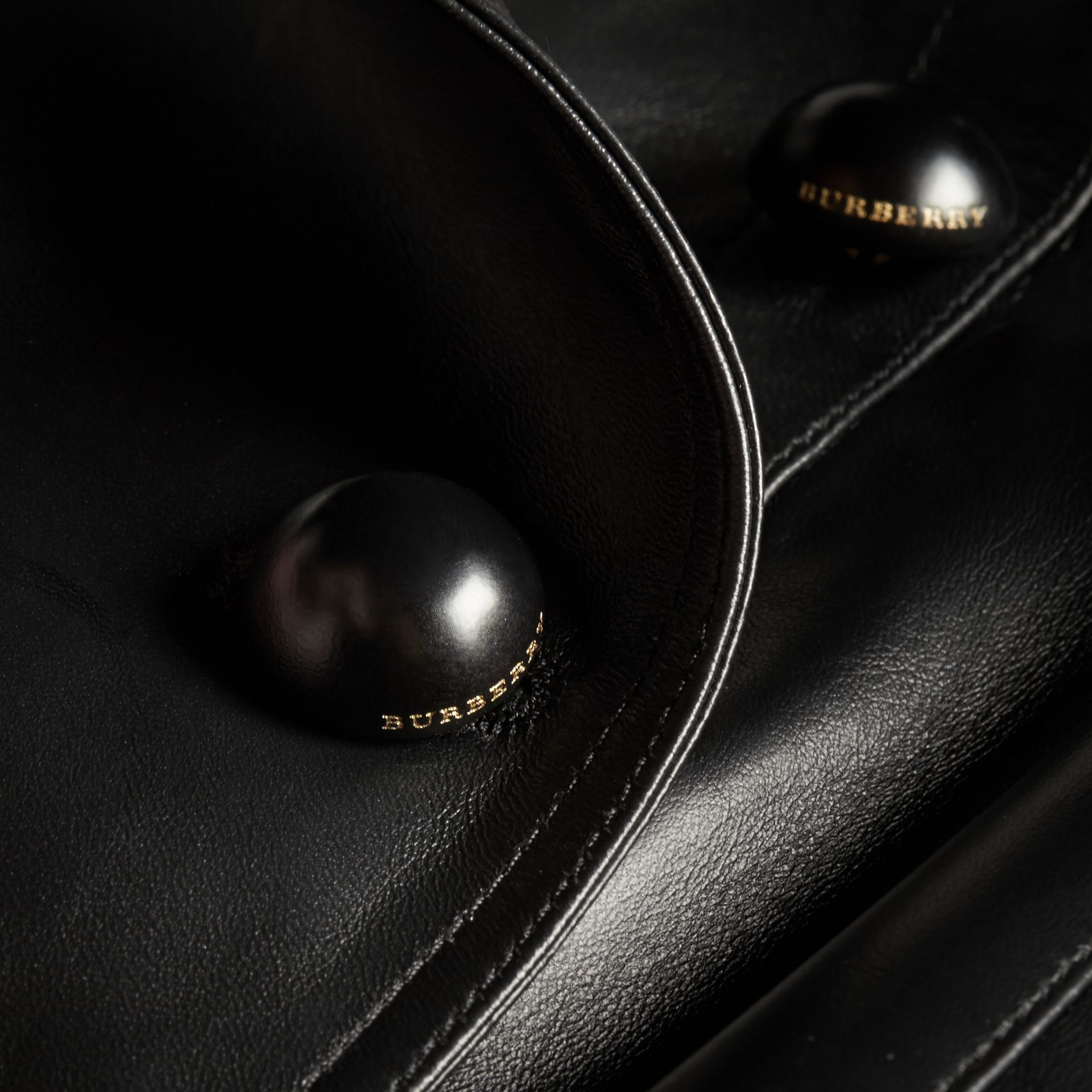 Lambskin Double-breasted Jacket - gallery image 2