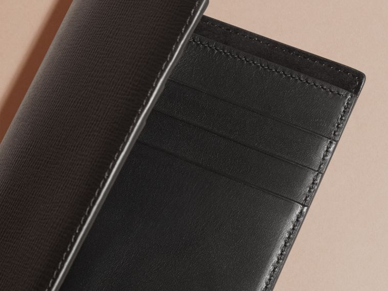 London Leather Passport and Card Holder in Black - Men | Burberry Australia - cell image 4