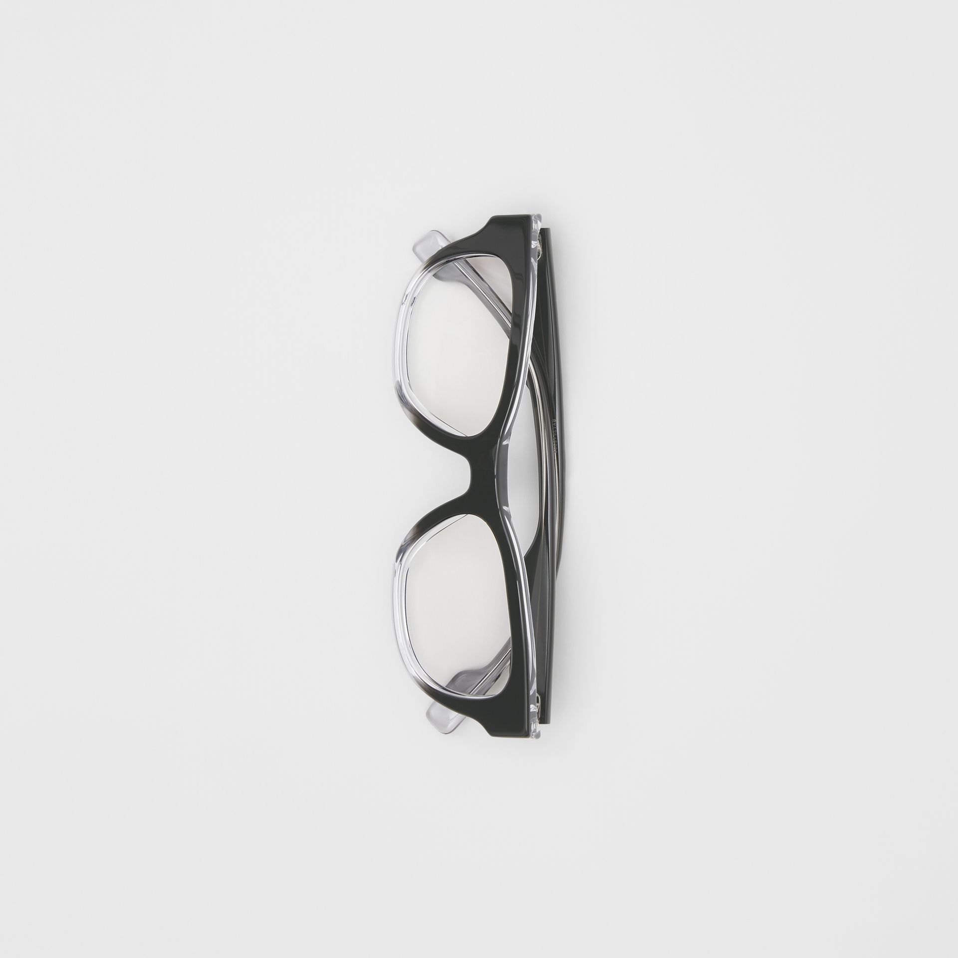 Square Optical Frames in Black - Men | Burberry United Kingdom - gallery image 3