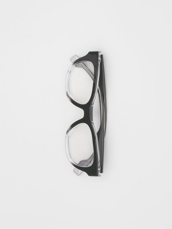 Square Optical Frames in Black - Men | Burberry United Kingdom - cell image 3