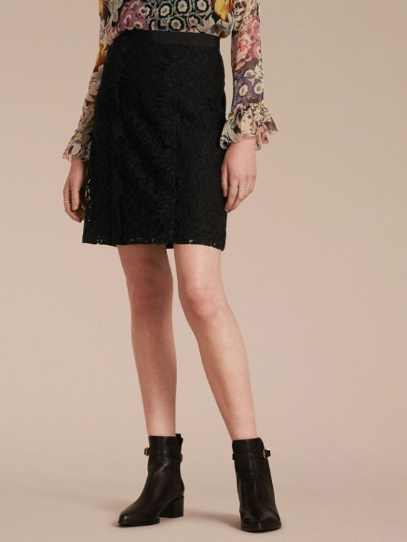 A-Line Lace Skirt - Women | Burberry