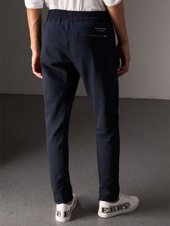 Cotton Sweatpants in Navy - Men | Burberry Australia - cell image 2