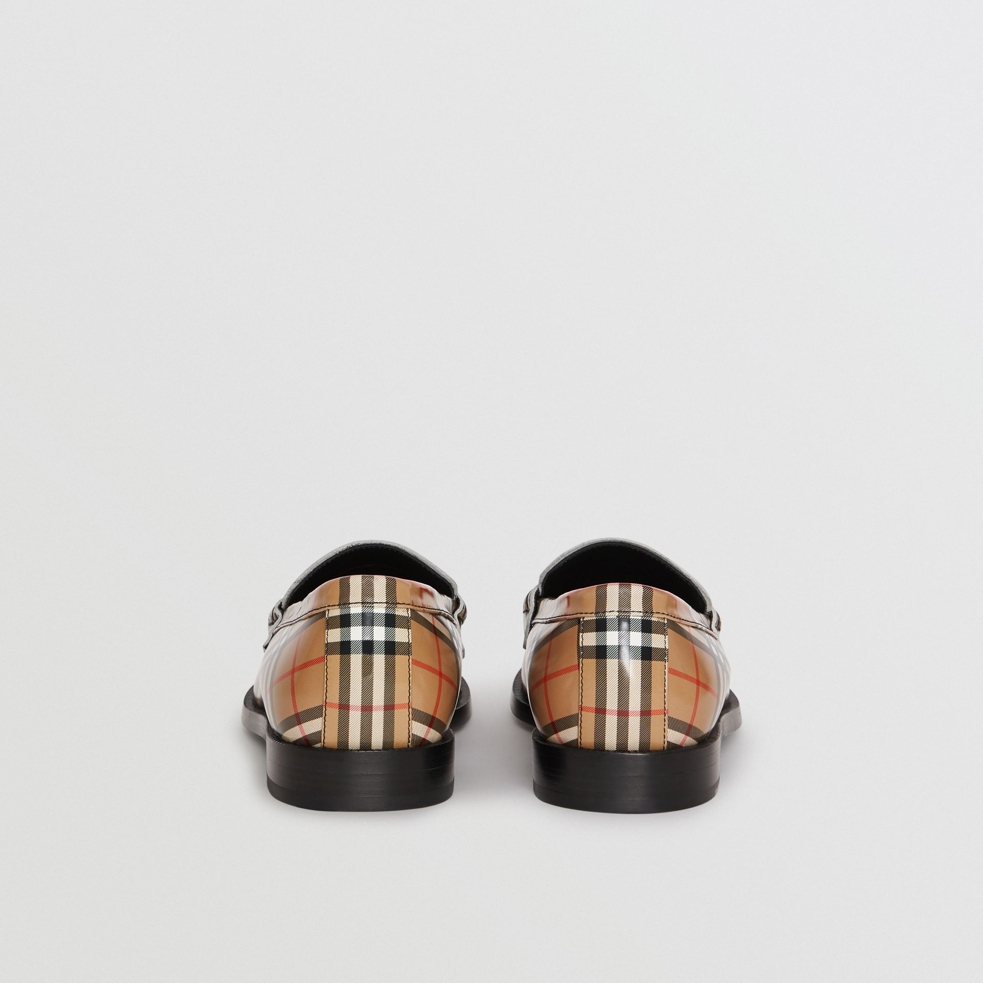 Gosha x Burberry Check Leather Loafers in Antique Yellow - Men | Burberry - gallery image 5