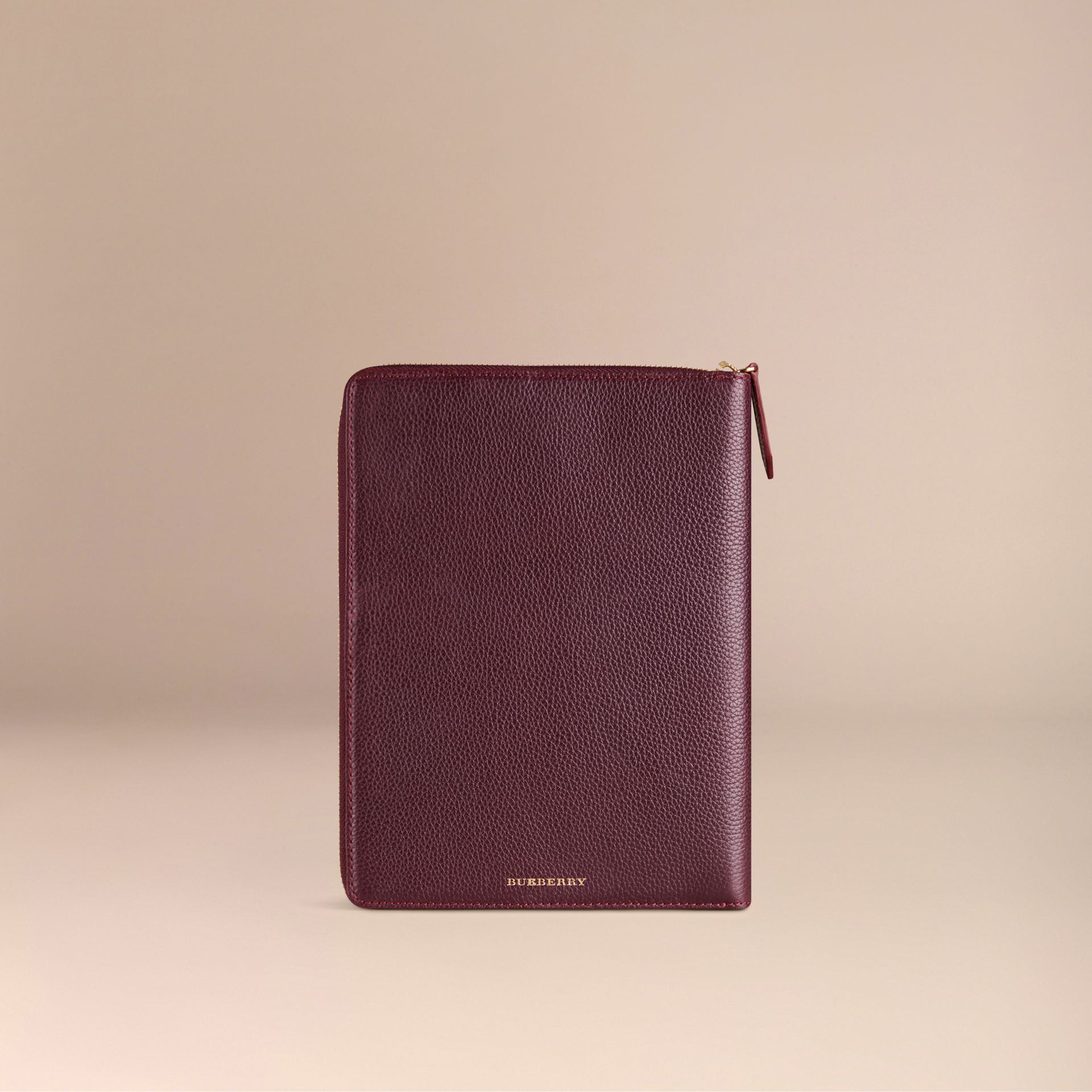 Ziparound Grainy Leather 18 Month 2016/17 A5 Diary in Dark Amethyst | Burberry - gallery image 3