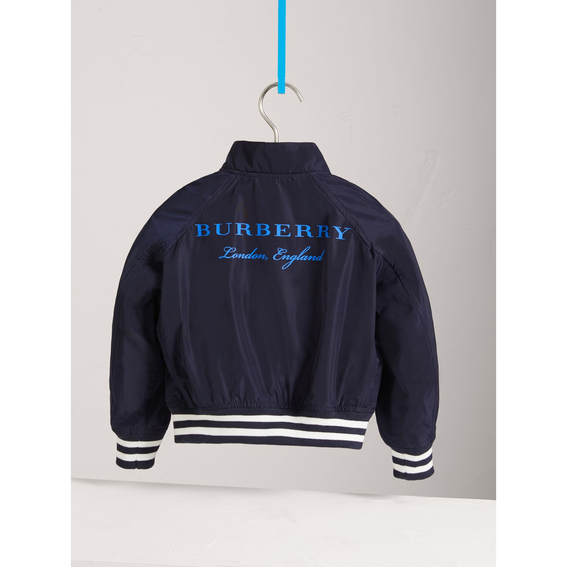 Lightweight Bomber Jacket in Navy - Boy | Burberry - gallery image 3