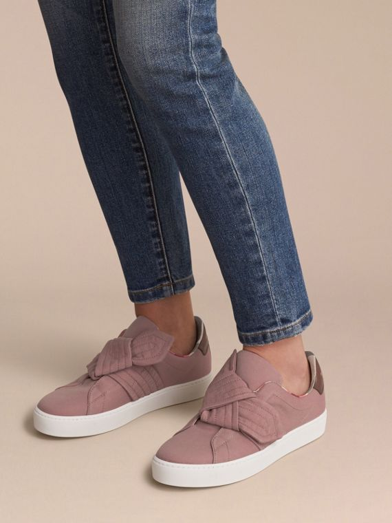 Trench Knot Trainers in Antique Rose - Women | Burberry - cell image 2