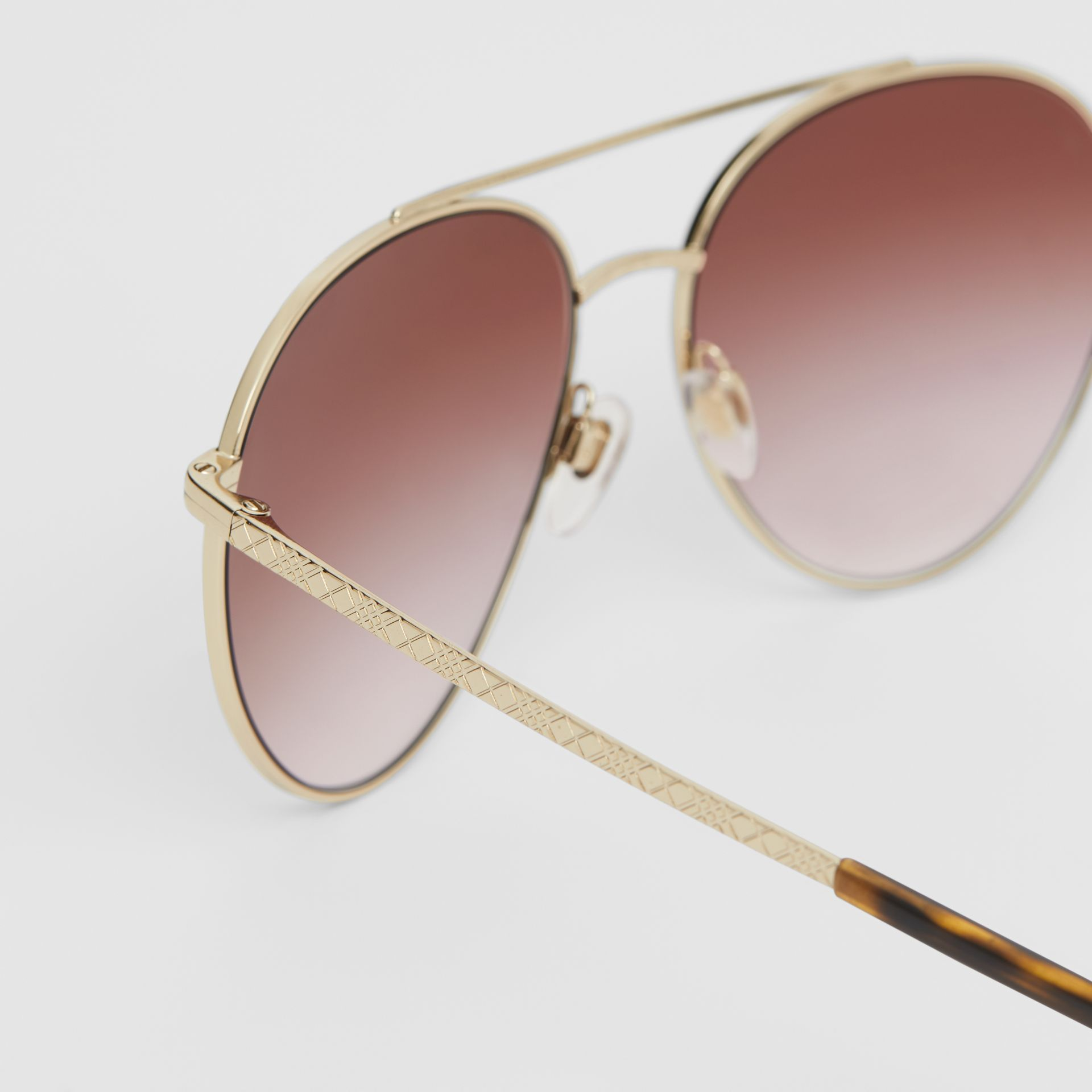 Pilot Sunglasses in Light Pink - Women | Burberry United Kingdom - gallery image 1