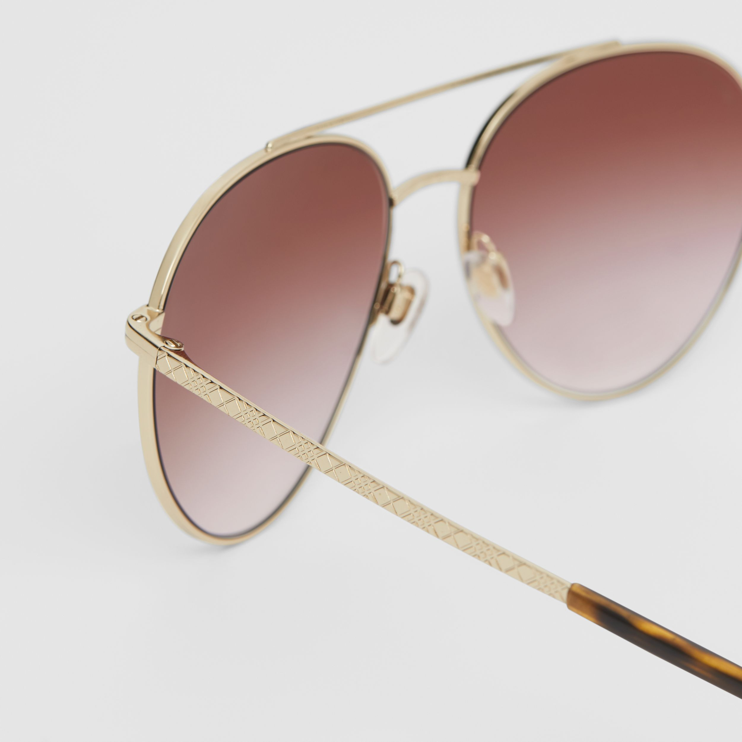 Pilot Sunglasses in Light Pink | Burberry - 2
