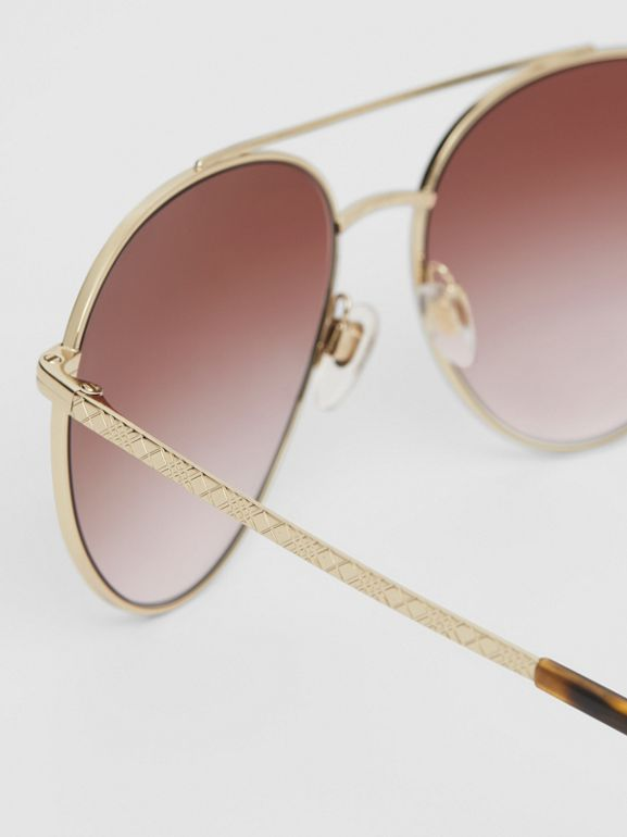Pilot Sunglasses in Light Pink - Women | Burberry United Kingdom - cell image 1