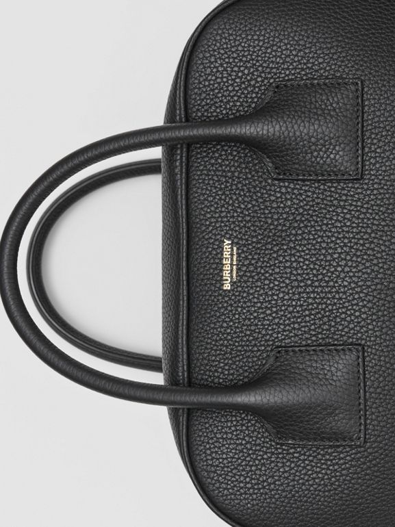Medium Leather Cube Bag in Black - Women | Burberry Australia - cell image 1